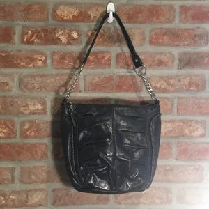 The Sak leather black shoulder bag